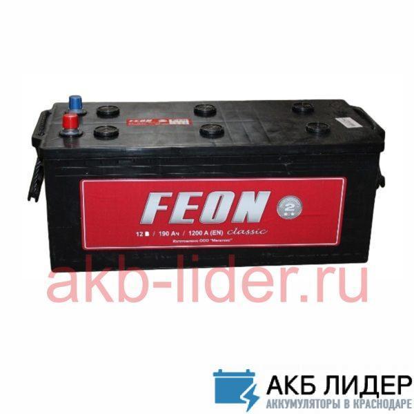 Аккумулятор 190 Ач евро FEON Classic, купить, заказать, цена, недорого, цена, отзывы, АКБ, аккумулятор, Краснодар, Кубань, Краснодарский край