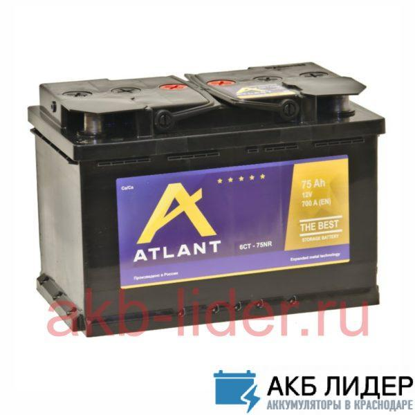 Автомобильный аккумулятор Atlant 6СТ 75А/ч-12V ст EN720 европейские обратная 278x175x190, купить, заказать, цена, недорого, цена, отзывы, АКБ, аккумулятор, Краснодар, Кубань, Краснодарский край