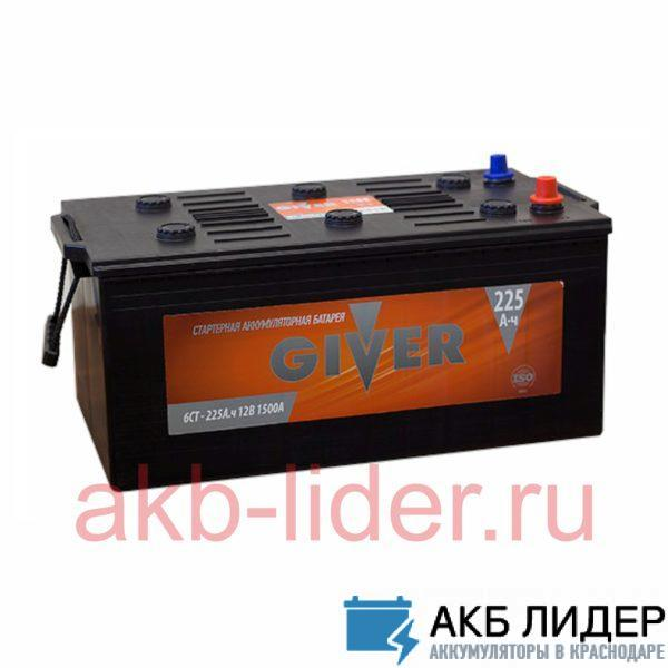 Аккумулятор Giver 225 Ач евро, купить, заказать, цена, недорого, цена, отзывы, АКБ, аккумулятор, Краснодар, Кубань, Краснодарский край