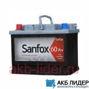 Автомобильный аккумулятор SanFox стандарт 60А/ч-12Vст EN500 европейские прямая 242x175x190, купить, заказать, цена, недорого, цена, отзывы, АКБ, аккумулятор, Краснодар, Кубань, Краснодарский край