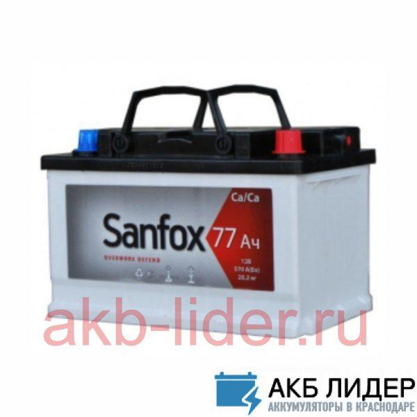 Аккумулятор San Fox 77 Ач, купить, заказать, цена, недорого, цена, отзывы, АКБ, аккумулятор, Краснодар, Кубань, Краснодарский край