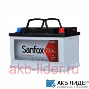Автомобильный аккумулятор San Fox 77А/ч-12Vст EN600 европейские прямая 278x175x190, купить, заказать, цена, недорого, цена, отзывы, АКБ, аккумулятор, Краснодар, Кубань, Краснодарский край