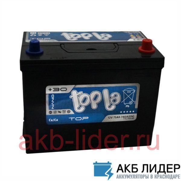 Аккумулятор TopLa  75 Ач asia О.П., купить, заказать, цена, недорого, цена, отзывы, АКБ, аккумулятор, Краснодар, Кубань, Краснодарский край