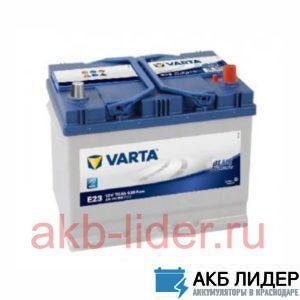 Аккумулятор Varta Blue Dynamic 70 Ач 570412063 (E23) asia (О.П.), купить, заказать, цена, недорого, цена, отзывы, АКБ, аккумулятор, Краснодар, Кубань, Краснодарский край