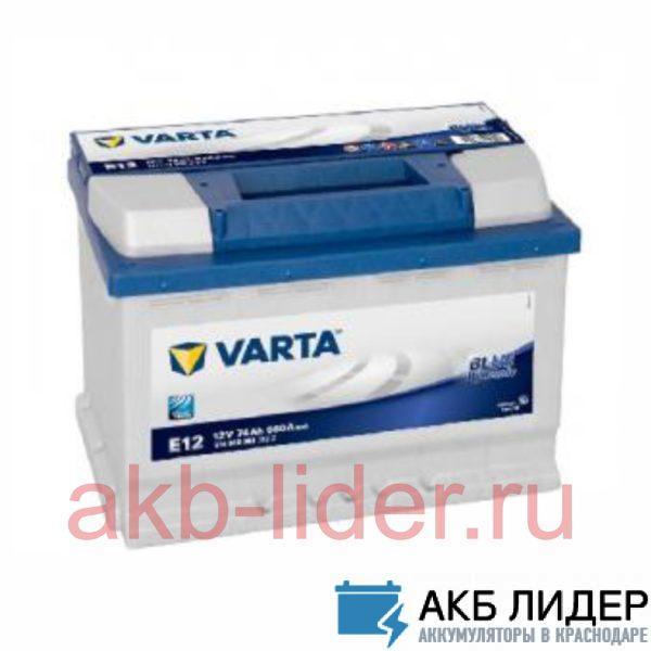 Аккумулятор Varta Blue Dynamic 74 Ач 574012068 (E11), купить, заказать, цена, недорого, цена, отзывы, АКБ, аккумулятор, Краснодар, Кубань, Краснодарский край