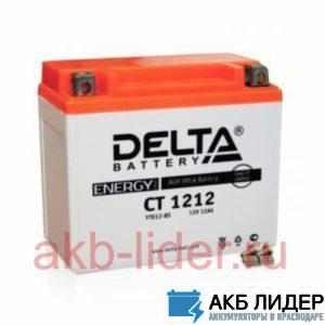 Мото-Аккумулятор DELTA BATTERY CT 1212 12А/ч-12V ст EN120 болт прямая 150x87x132, купить, заказать, цена, недорого, цена, отзывы, АКБ, аккумулятор, Краснодар, Кубань, Краснодарский край