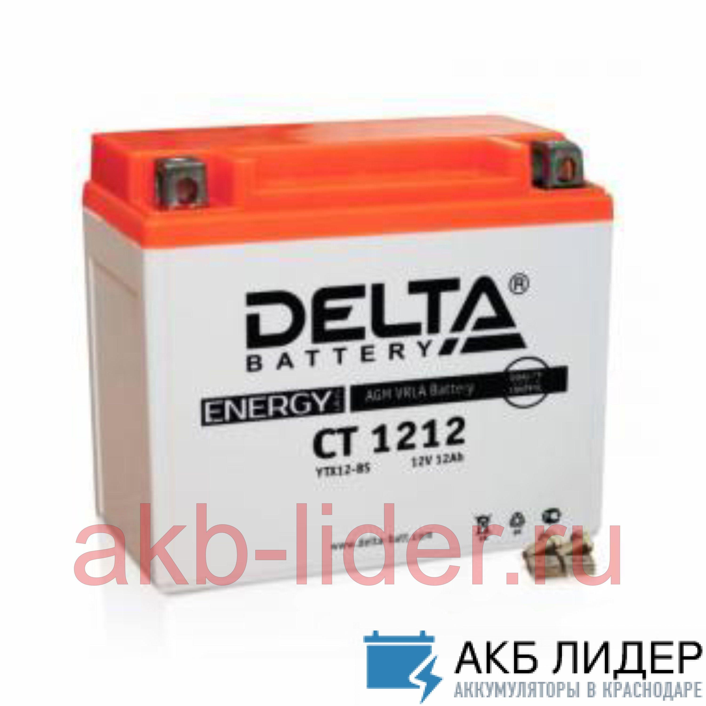 Мото аккумулятор DELTA CT 1212 12 Ач