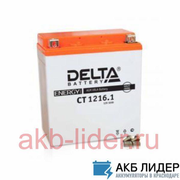 Мото-Аккумулятор DELTA BATTERY CT 1216 16А/ч-12V ст EN200 болт обратная 205x71x164, купить, заказать, цена, недорого, цена, отзывы, АКБ, аккумулятор, Краснодар, Кубань, Краснодарский край