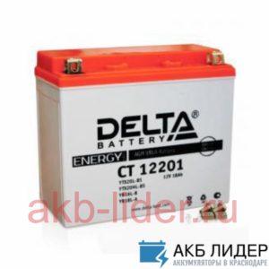Мото-Аккумулятор DELTA BATTERY CT 12201 20А/ч-12Vст EN270 болт обратная 177x88x156, купить, заказать, цена, недорого, цена, отзывы, АКБ, аккумулятор, Краснодар, Кубань, Краснодарский край