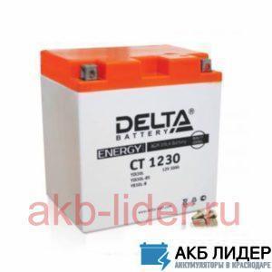 Мото аккумулятор DELTA CT 1230 30 Ач, купить, заказать, цена, недорого, цена, отзывы, АКБ, аккумулятор, Краснодар, Кубань, Краснодарский край