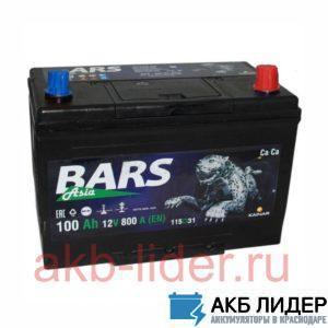 Автомобильный аккумулятор Bars Asia 100А/ч-12Vст EN640 полярность обратная 304х175х225мм, купить, заказать, цена, недорого, цена, отзывы, АКБ, аккумулятор, Краснодар, Кубань, Краснодарский край