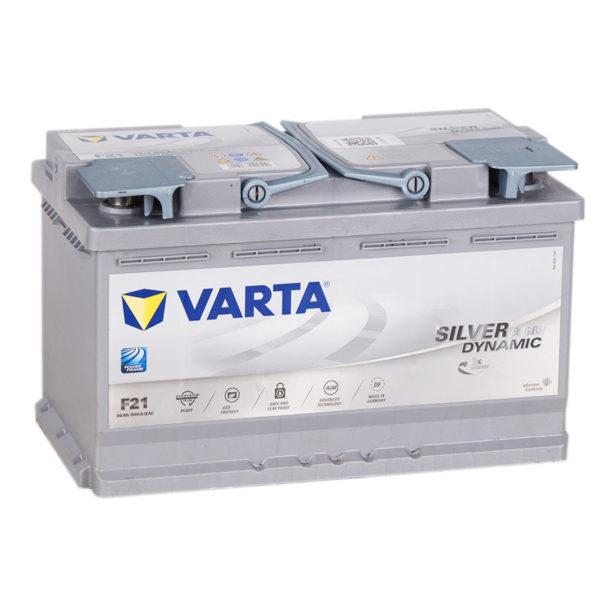 Аккумулятор автомобильный Varta Silver Dynamic F21 AGM 580 901 080 12В 80Ач 800А, купить, заказать, цена, недорого, цена, отзывы, АКБ, аккумулятор, Краснодар, Кубань, Краснодарский край