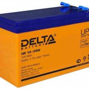 Тяговый аккумулятор ИБП Delta HR 12-34W 12В 9Ач А, купить, заказать, цена, недорого, цена, отзывы, АКБ, аккумулятор, Краснодар, Кубань, Краснодарский край