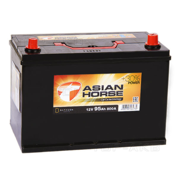 Аккумулятор автомобильный Asian Black Horse 6СТ-95.1 12В 95Ач 800А, купить, заказать, цена, недорого, цена, отзывы, АКБ, аккумулятор, Краснодар, Кубань, Краснодарский край