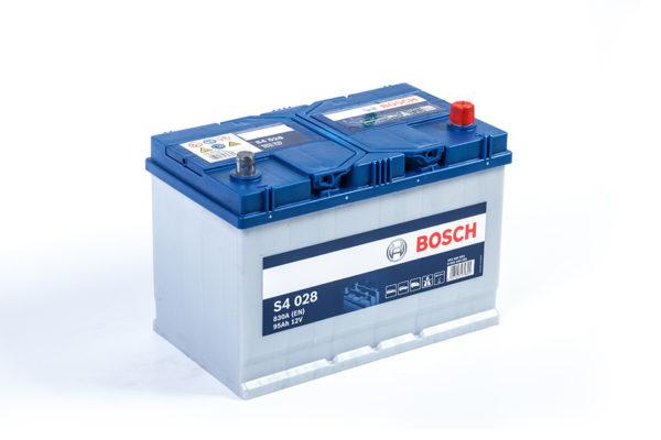 Аккумулятор автомобильный Bosch S4 (028) 12В 95Ач 830А обратная полярность Asia, купить, заказать, цена, недорого, цена, отзывы, АКБ, аккумулятор, Краснодар, Кубань, Краснодарский край