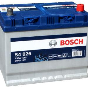 Аккумулятор автомобильный Bosch S4 (026) 12В 70Ач 630А, купить, заказать, цена, недорого, цена, отзывы, АКБ, аккумулятор, Краснодар, Кубань, Краснодарский край
