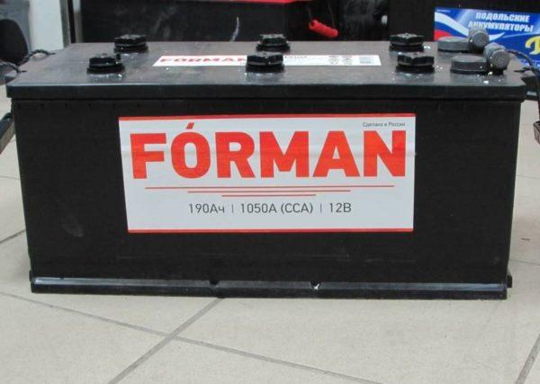 FORMAN 6CT - 190Ah евро АКЦИЯ!!!, купить, заказать, цена, недорого, цена, отзывы, АКБ, аккумулятор, Краснодар, Кубань, Краснодарский край
