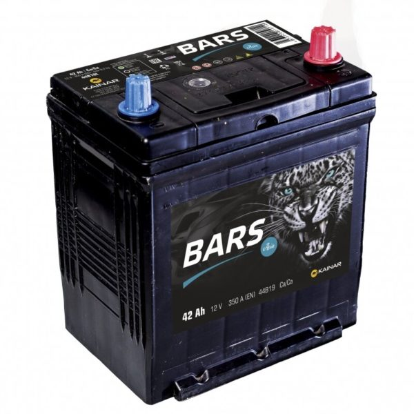 Автомобильный аккумулятор Bars Asia 42А/ч-12Vст EN380 японские обратная 187x127x225, купить, заказать, цена, недорого, цена, отзывы, АКБ, аккумулятор, Краснодар, Кубань, Краснодарский край
